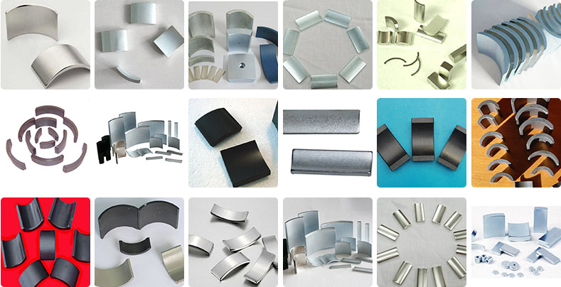 Neodymium Large Arc Ndfeb Segment Permanent Electric Motor Magnets ...
