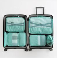 New Fashion Luggage Organizer High Quality Waterproof 7 pcs Travel Bag Packing Cube