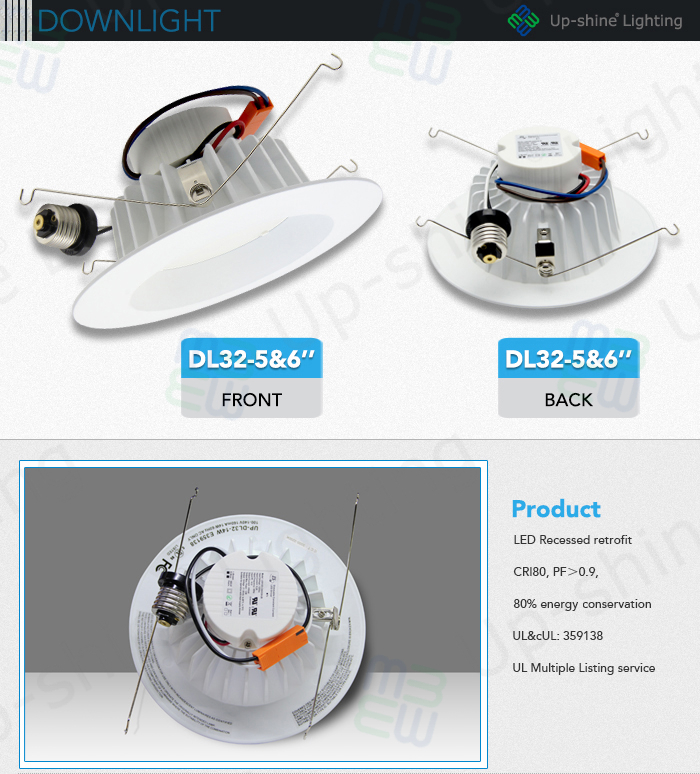 """Ul No. E359138 Recessed 6"""" Office Lighting With Triac Dimmable New ..."""