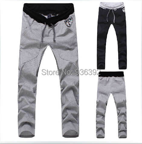 Men slim sports pants trousers section thin free shipping M-XXXL