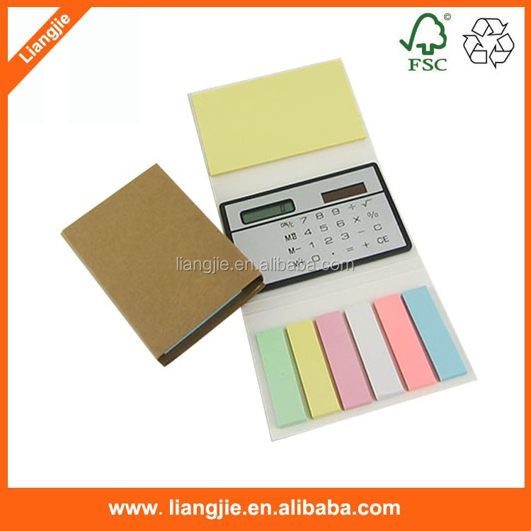 Eco- Friendly Sticky Notes With Calculator,Promotion Kraft Paper ...