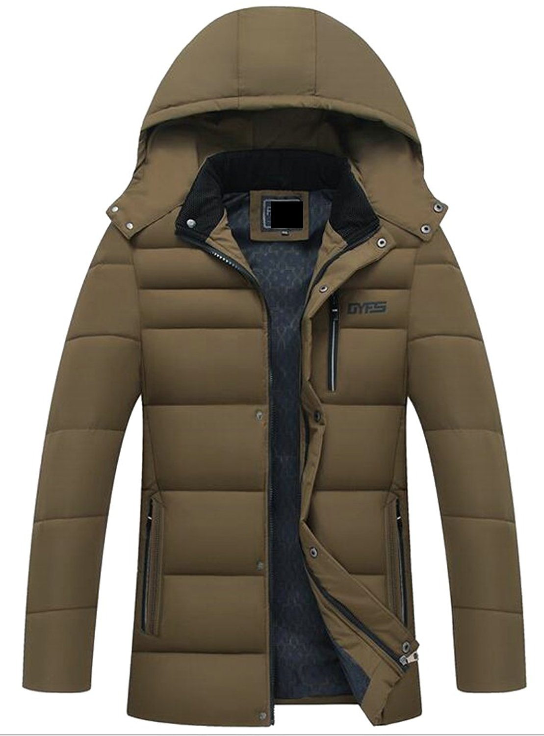 10ae92d4389 Get Quotations · Smeiling Mens Thickened Puffer Jacket Winter Padded Parka  Coat Cotton Quilted Jacket