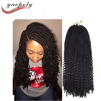 20 goddess faux locs curly ends crochet braids synthetic