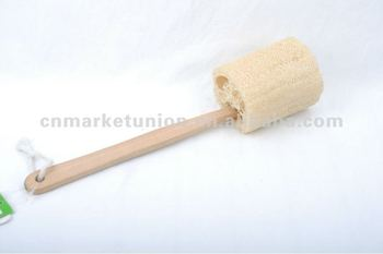 Natural Material Loofah Brush Long Handle Toilet Brush Bathroom Wipe Buy Bathroom Scrubber Brush Long Handle Cleaning Brush Wc Toilet Brush Product