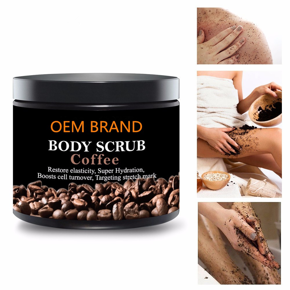 Long lasting moisturizing coffee body scrub