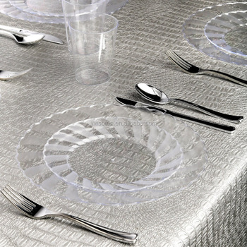 clear plastic dinner plates salad dessert plates silver cutlery u0026 cups for party weeding