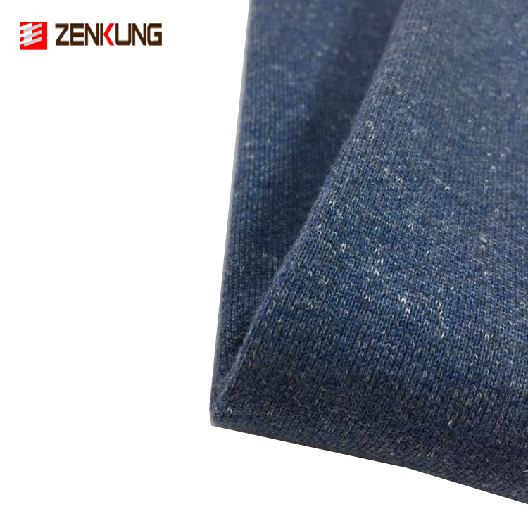 100% cotton 390gsm french terry knitted fabric