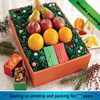 christmas apple fruit packing paper tray