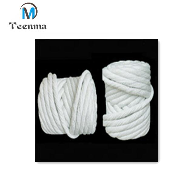 Heat Resistant Flexible Ceramic Fiber Twisted Rope for High Temperature