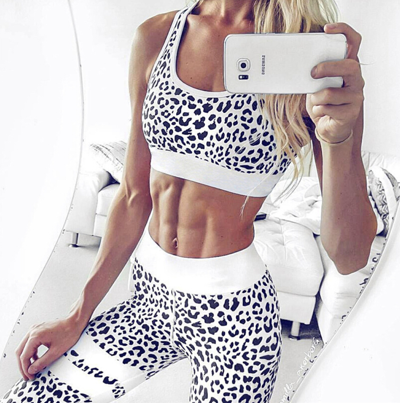 Custom Women Digital Printing Yoga Pants And Bra Sports Set