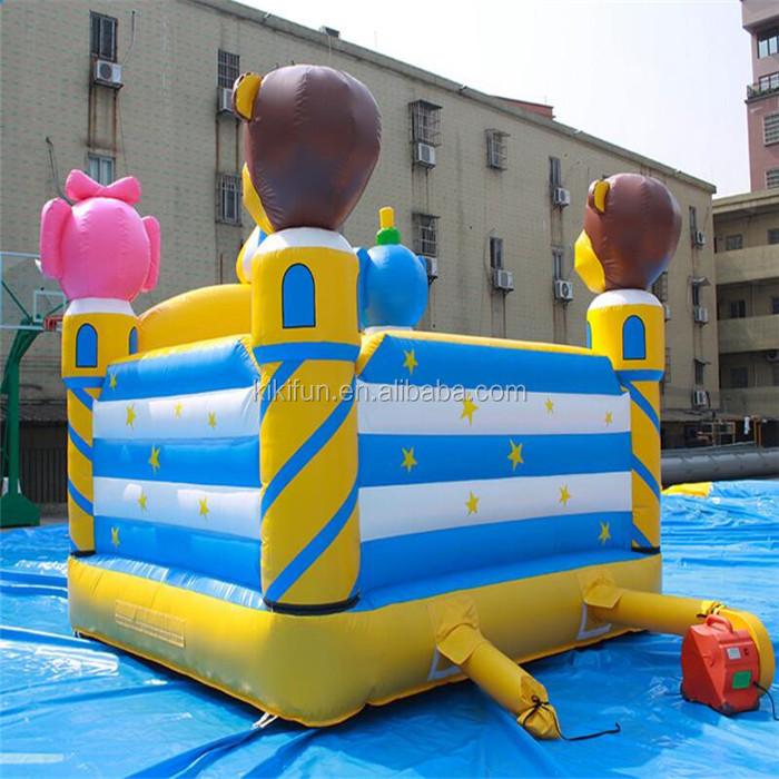Fast supplier hot sale custom party combo inflatable bouncer with slide and full certification for kids game
