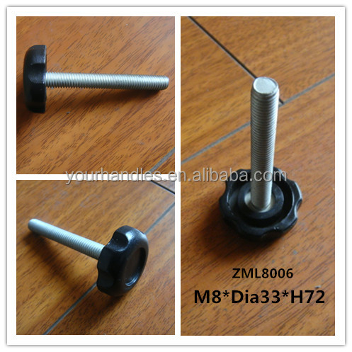 Chrome Outdoor Furniture Adjustable Lever Feet Legs With Plastic Feet Base  Leg Part 74