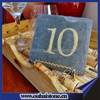 Attractive design slate stone table number card