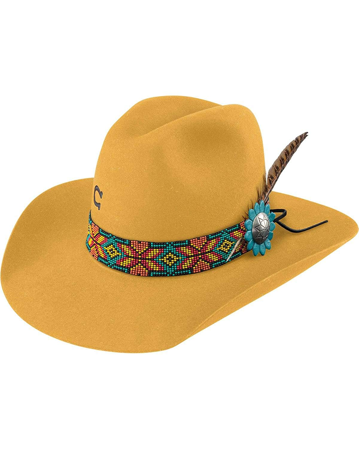 51dab959de910 Get Quotations · Charlie 1 Horse Women s Yellow Gold Digger Hat -  Cwgdgr-2134Yl