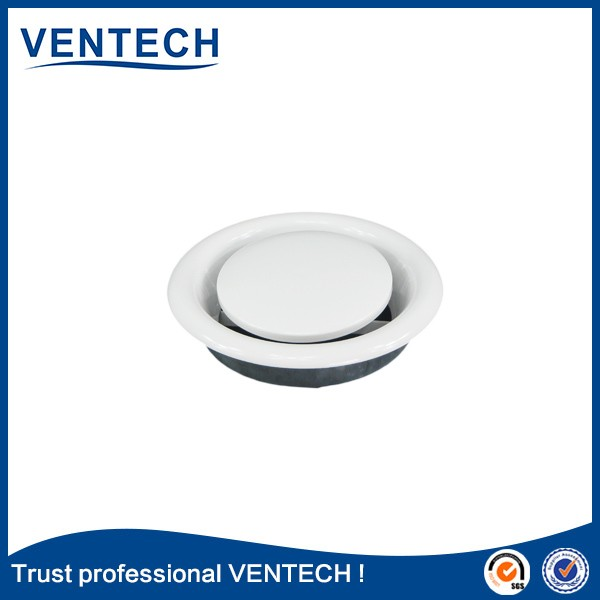 HVAC Air voloume control metal supply air disc valve round adjustable ceiling vent diffuser v92