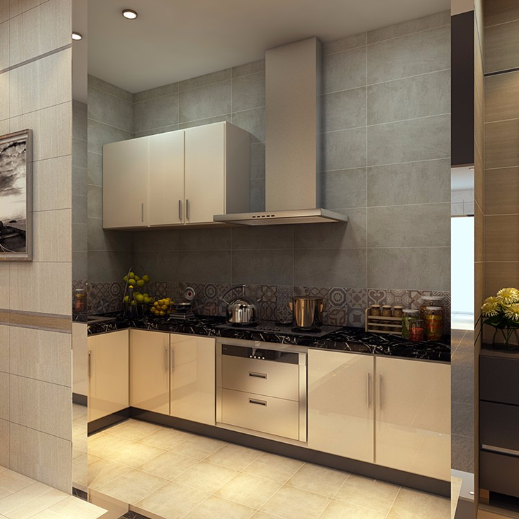 Cement Look Kitchen Wall and Floor Ceramic Floor Tile Matte Finish
