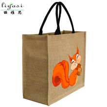 Factory wholesale custom printing natural eco friendly tote shopping jute bag with waterproof