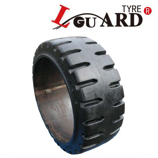 super quality l-guard brand solid forklift tires 21x9x15 ; 21x8x15 ; 21x7x15 smooth press on industrial tires