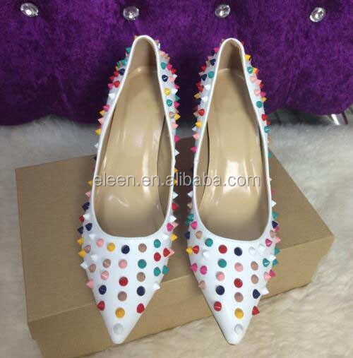 2016 Rivet Women High Pumps Heels Pointed Shoes Women Fashion Toe rr8tO