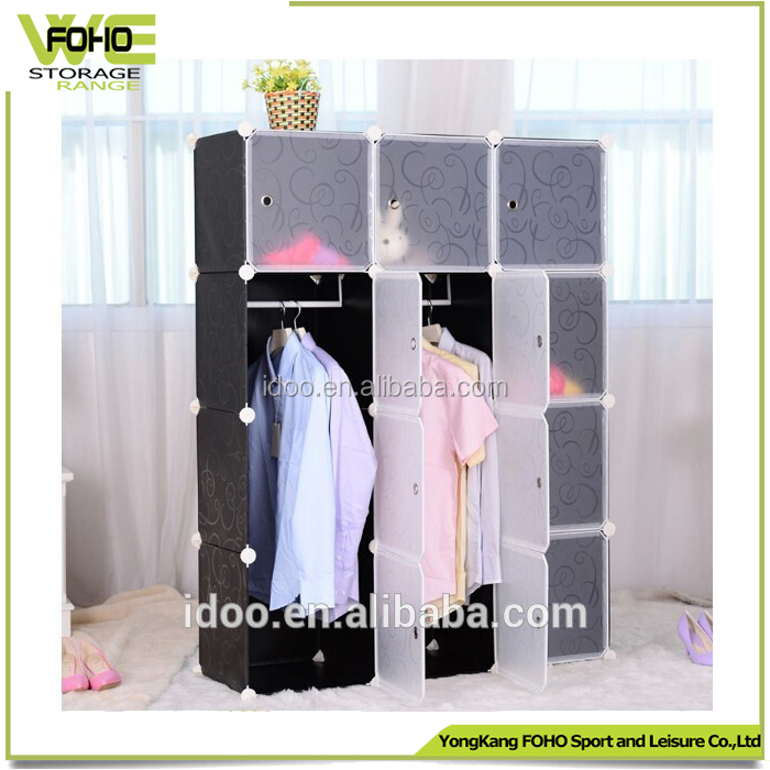 Cheap closet storage units diy plastic portable wardrobe closet portable closet (FH-AL0039-12)