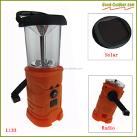Hand Dynamo 5 LED Radio Solar Lantern with Mobile Phone Charger