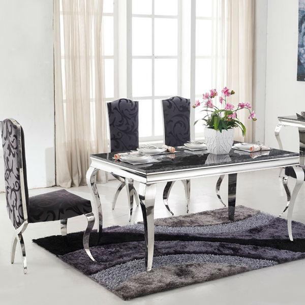 In acciaioinox tavolo da pranzo di design/vetro top/neoclassico ...