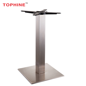 Commercial Contract Cast iron chassis stainless steel dining metal table leg /base for dining table