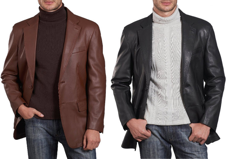 Thin Leather Jacket Mens - Jacket
