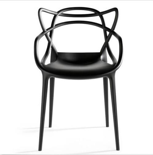 Plastique moderne empilables master manger chaise fauteuil manger faut - Fauteuil de table a manger ...