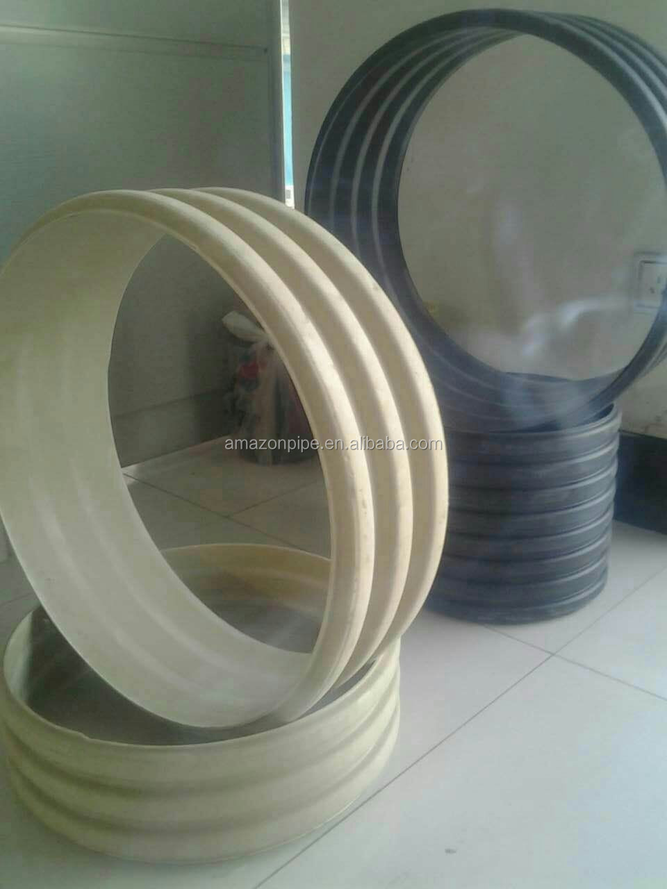 DN500 SN8 PVC white black corrugated pipe