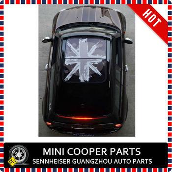 Nuovo Materiale 3m Nero Union Jack Stile Sun Tetto Vignetta Per Mini
