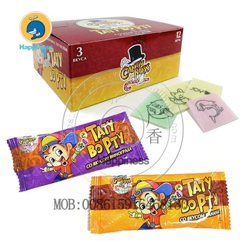 Candy Boss Lips Tongue Tattoo Candy Mix Flavors Round Paper Candy