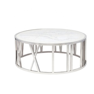 round marble top coffee table,custom round white marble stone coffee table furniture