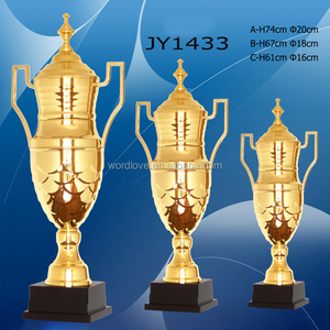 high end sports metal trophies cup world globe gold big metal trophy