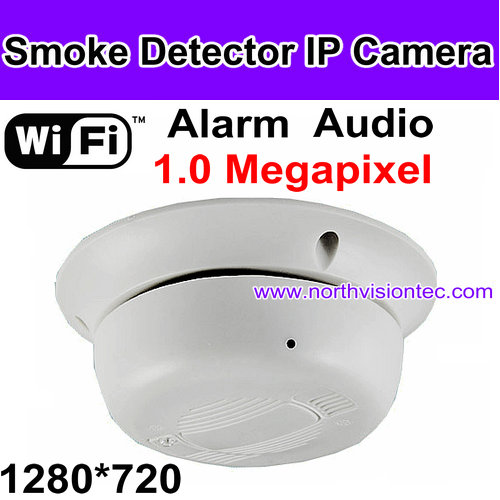 Smartest WIFI IP Smoke detector camera, Control it anywhere, APP for phone&PC Software