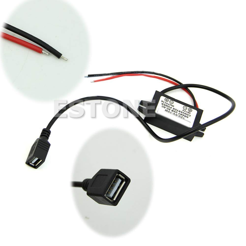 BELONG DC12V to 5V 15W 3A Step Down USB Converter Regulator for iPhone car Charger L15