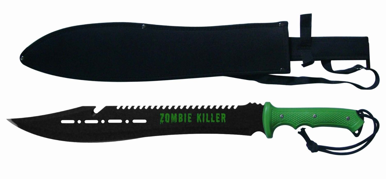 "25"" Zombie Apocalypse Zombie Killer Tactical Machete"