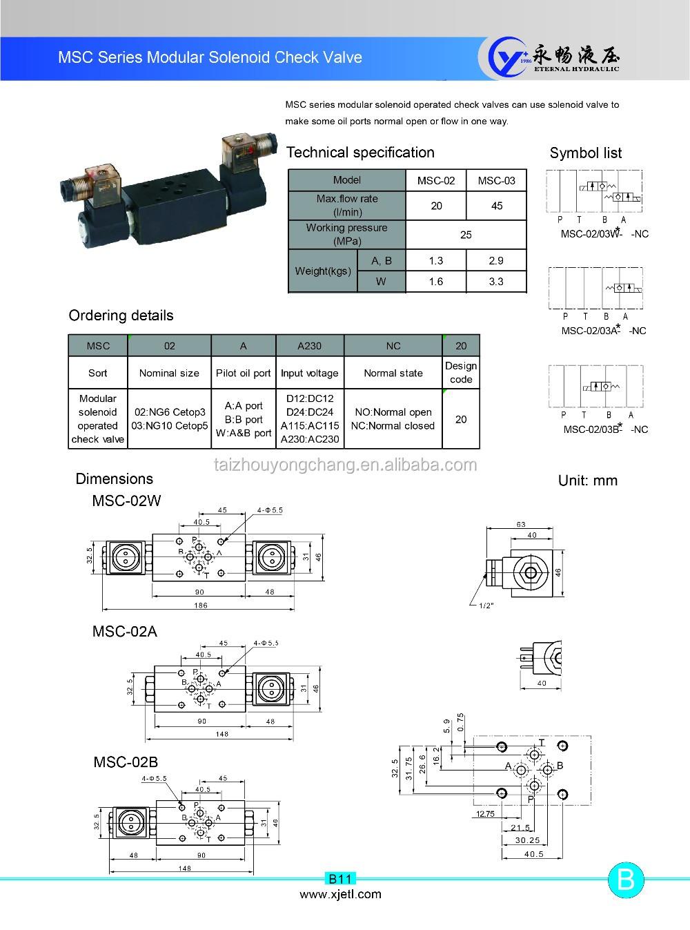 Price Of Msc 03w Modular Type Harga Solenoid Variable Flow Control