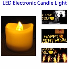 Hot Selling Fashion Flameless Moving Wick LED Candle
