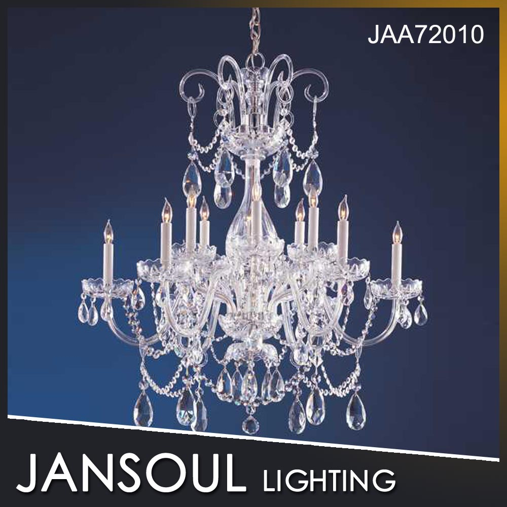best design Classic clear glass crystal chandelier lighting for hotel