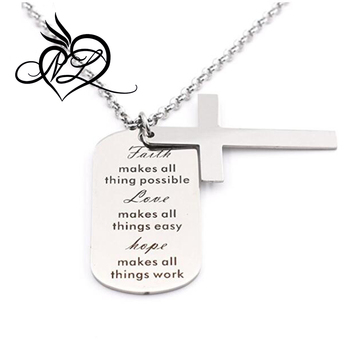 simple cross necklace chain jesus inspirational jewelry quote gift for teen daughter best friend birthday