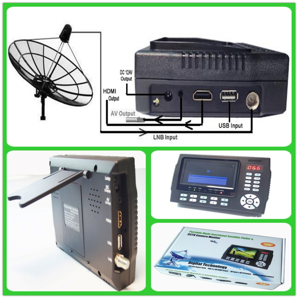 Fast Tracking Full HD Digital Satellite Finder Meter MPEG-4 DVB-S2 Modulator Sat Finder HD