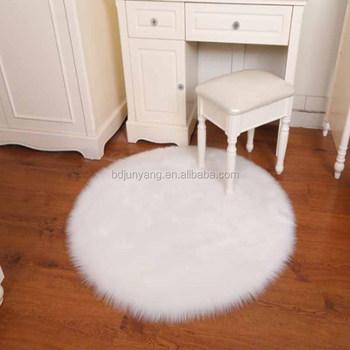White Fur Rug Sheepskin Area Plush Rugs Faux Mat Fauxfur Product On