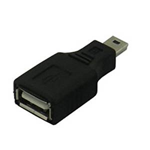 USB Conversion head - SODIAL(R)3 x USB A (female) - miniUSB (male) USBAB-M5AN (Black)