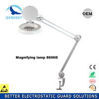 LED Folding magnifying glass lamp for beauty equipment working illuminated