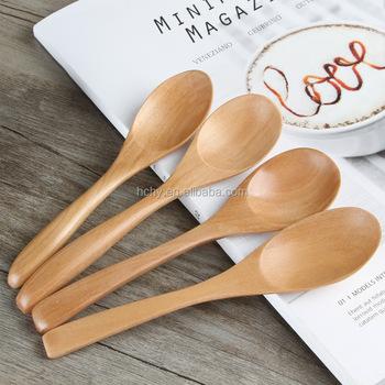 Whole Custom Mini Wood Measuring Spoons Coffee Tea Spoon