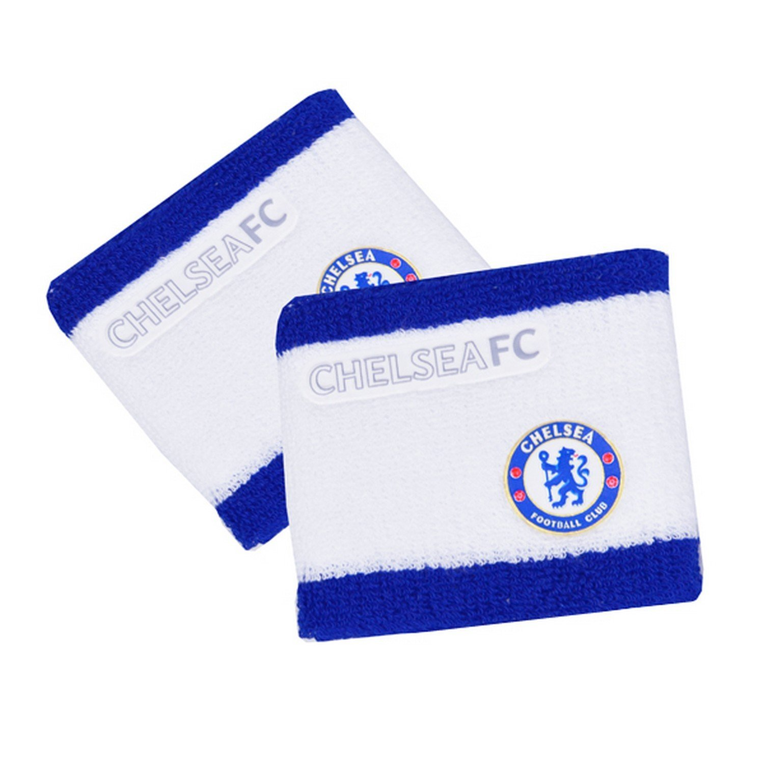 Chelsea FC Official 2 Tone Football Crest Sport Wristbands (Pack Of 2)