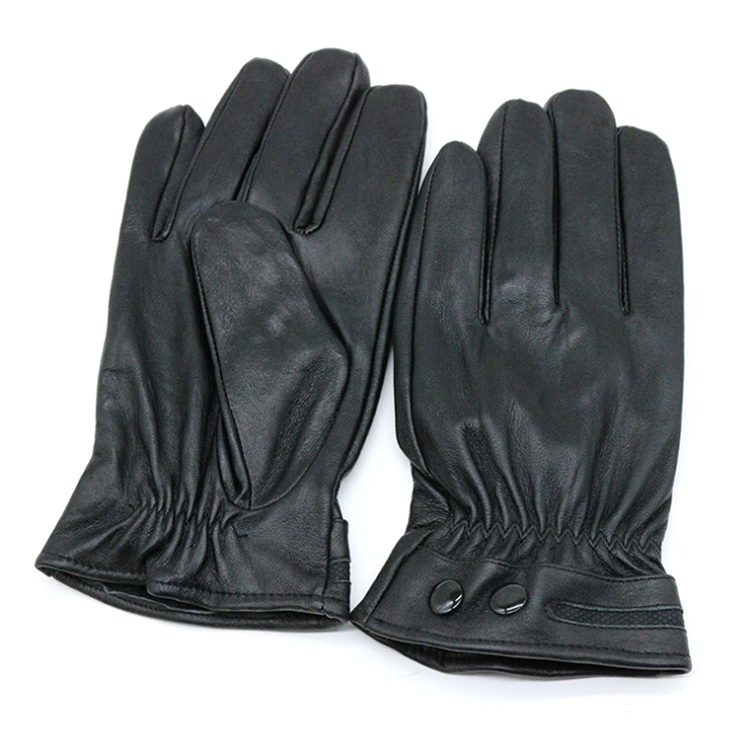 Luxury Mens Touchscreen Texting Winter Leather Dress Driving Gloves (Cashmere/Wool/Fleece Lining)