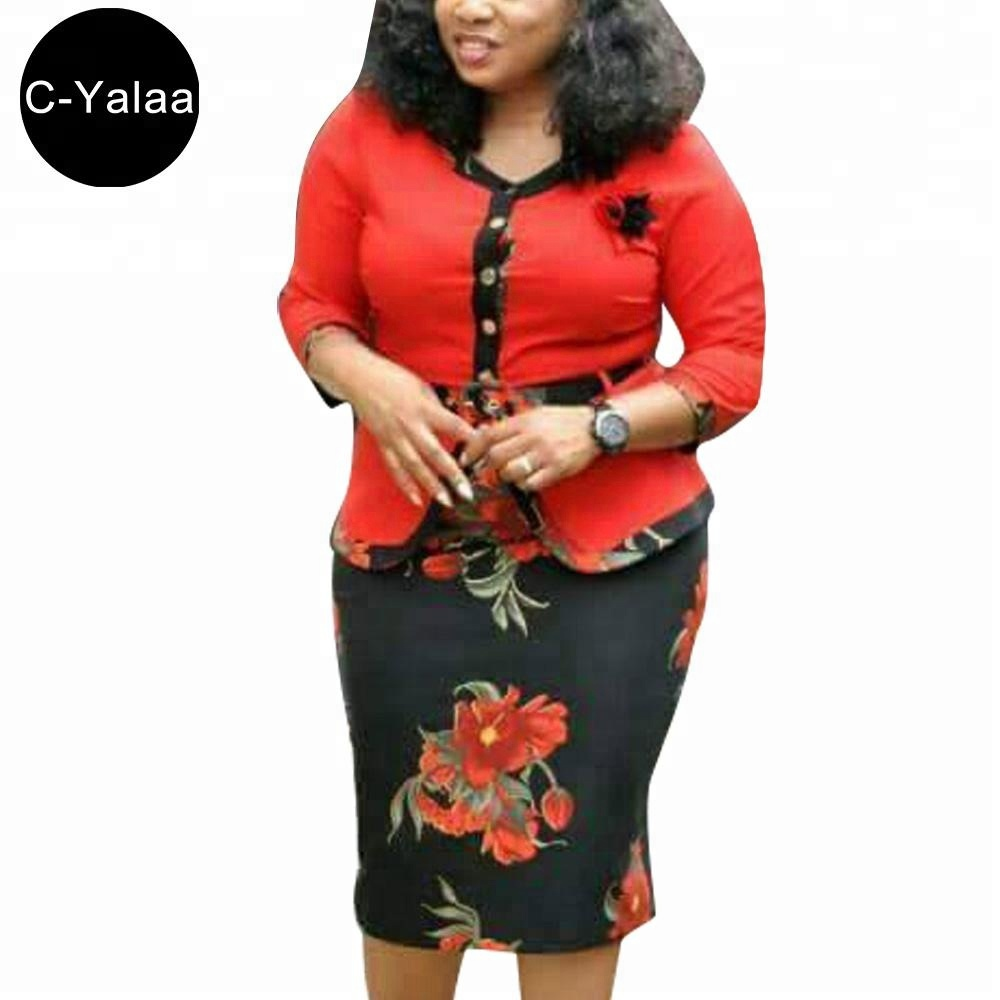 C-Yalaa Women Floral Printed Contrast Suits In Stock