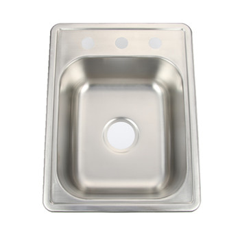Countertop Top Mount Single Bowl One Hole Three Holes Kitchen Sink - Buy  Countertop Sink,Single Bowl Sink,Kitchen Sink Product on Alibaba.com